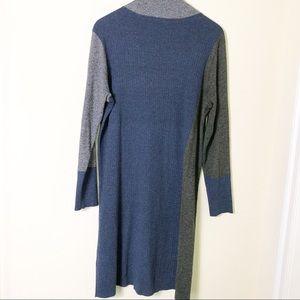 NIC+ZOE Dresses - Nic + Zoe Blue And Gray Long SlTurtleneck Dress L